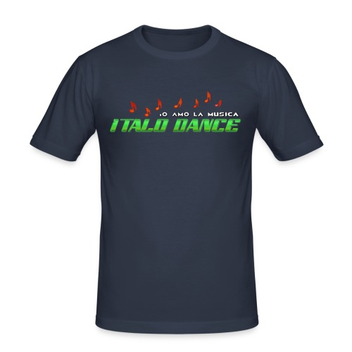 ITALODANCE Io Amo T-shirt - Men's Slim Fit T-Shirt