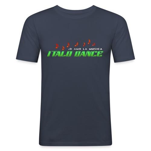 ITALODANCE Io Amo T-shirt - Men's Slim Fit T-Shirt