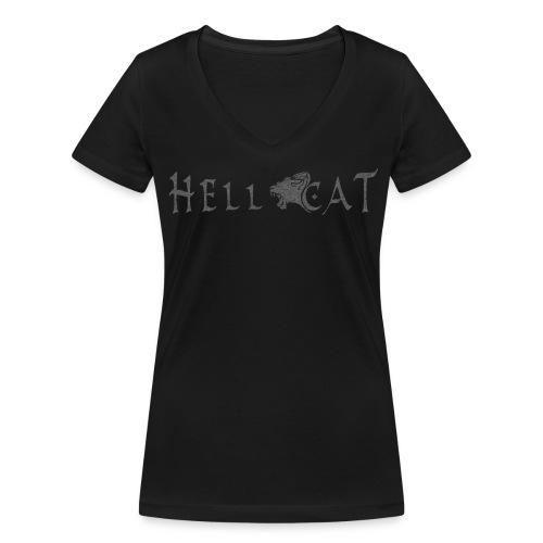 Girl Shirt | Hell Cat (Grey) - Frauen Bio-T-Shirt mit V-Ausschnitt von Stanley & Stella
