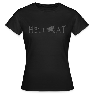 Girl T-Shirt | Hell Cat (Grey) - Frauen T-Shirt