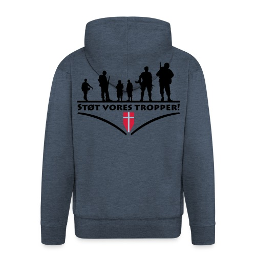 Hættetrøje, Støt vores tropper - Herre premium hættejakke