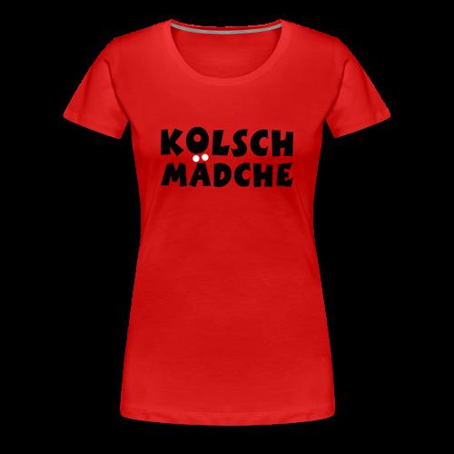 Kölsch Mädche met Ö un Ä (Schwarz/Weiß) S-3XL T-Shirt - Frauen Premium T-Shirt