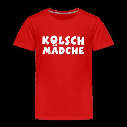 Kölsch Mädche met Ö un Ä (Weiß) Kinder T-Shirt - Kinder Premium T-Shirt