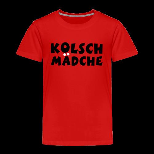 Kölsch Mädche met Ö un Ä (Schwarz/Weiß) Kinder T-Shirt - Kinder Premium T-Shirt