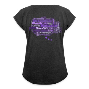 Blues Cloud (Back Print) - Women's T-shirt with rolled up sleeves