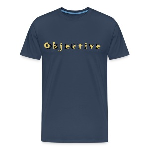 Objective full name Gold - Mannen Premium T-shirt