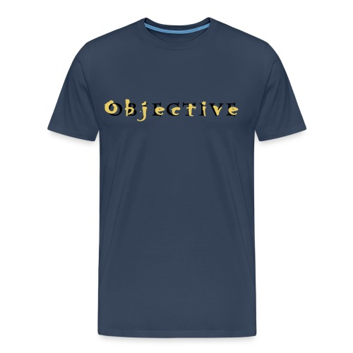 Objective full name Gold - Mannen Premium T-shirt