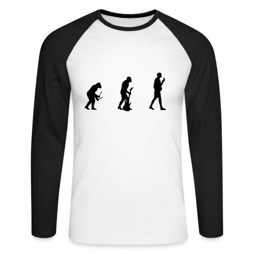 Evolution zum Gittaristen - Männer Baseballshirt langarm