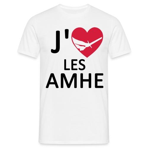 TS H J'Aime les AMHE Blanc - T-shirt Homme