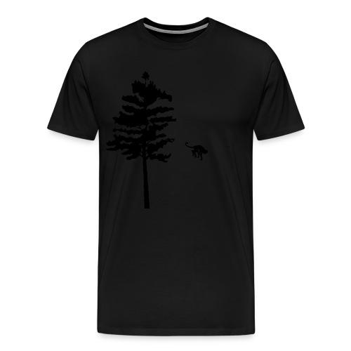 Premium-T-shirt herr - The monkey that left the tree