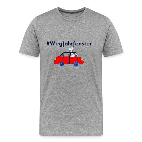 Herren-Shirt mit wegfahrendem Fenster! - Männer Premium T-Shirt