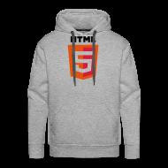 Hoodies & Sweatshirts ~ Men's Premium Hoodie ~ html5_grey_hoodie