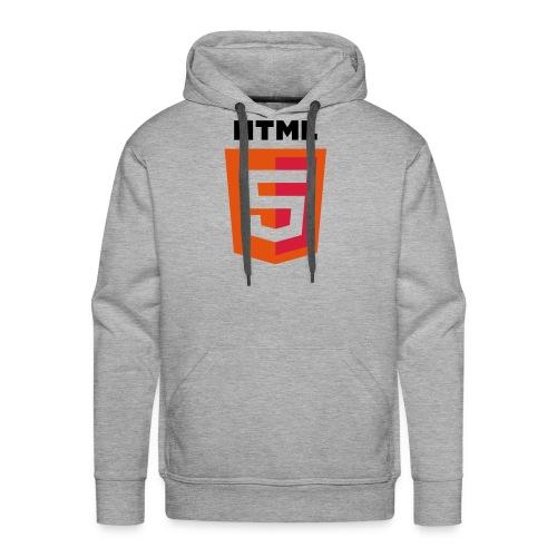 html5_grey_hoodie - Men's Premium Hoodie