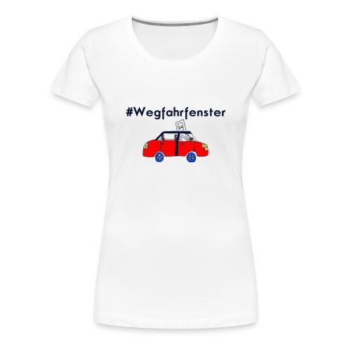 Baseballshirt #Wegfahrfenster - Frauen Premium T-Shirt
