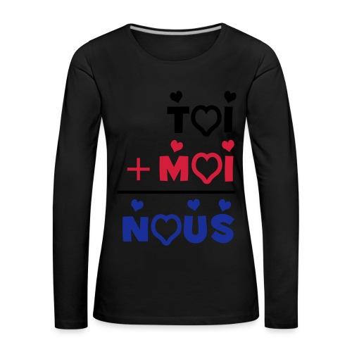 TOI+MOI - T-shirt manches longues Premium Femme