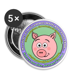 Cochon - Badge moyen 32 mm