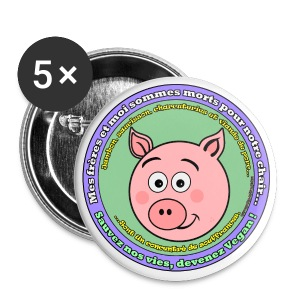 Cochon - Badge grand 56 mm