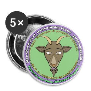 Lait de chèvre - Badge grand 56 mm