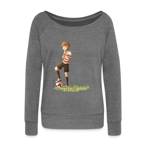 Football Louis Womens Boatneck Long Sleeve Top - Women's Boat Neck Long Sleeve Top