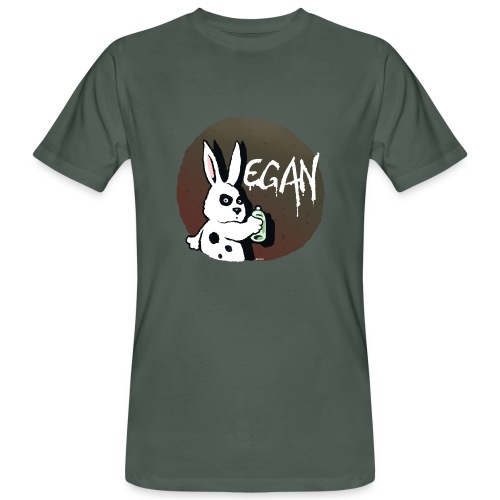 Vegan Hase - Männer Bio-T-Shirt