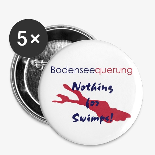 Nothing for Swimps! - Pieks - Buttons mittel 32 mm