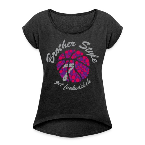Baba-Bubbles - Frauen T-Shirt mit gerollten Ärmeln