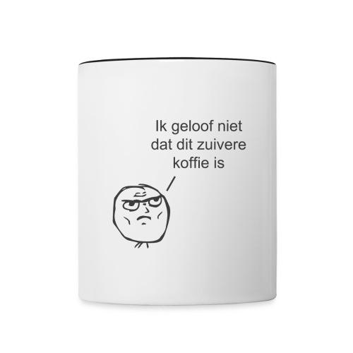 Zuivere koffie mok - Mok tweekleurig