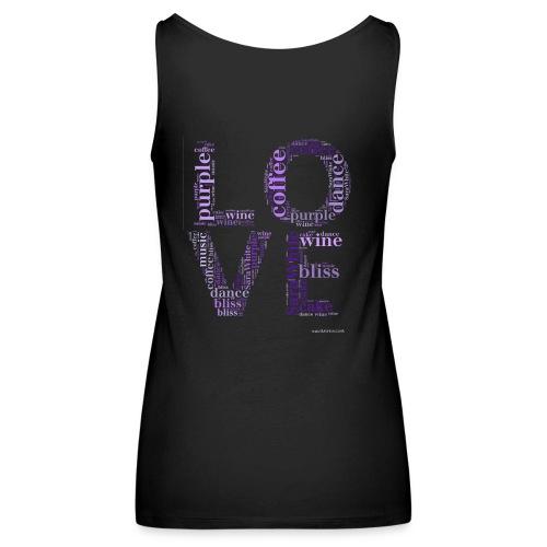 Blues LOVE(Back Print) - Women's Premium Tank Top