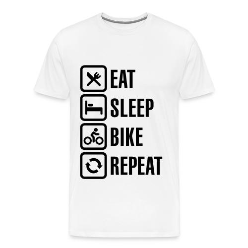 Eat Sleep Bike Repeat Mens T-Shirt - Men's Premium T-Shirt