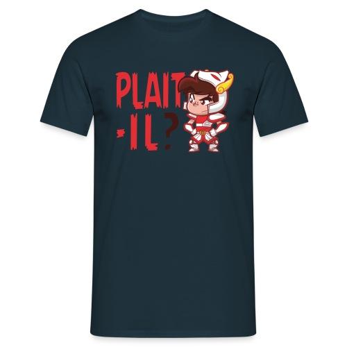 Plaît-il rouge (simple) - T-shirt Homme