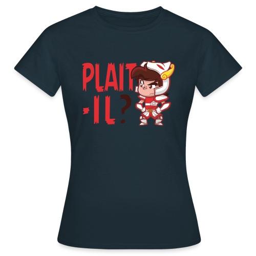 Plaît-il rouge (simple) - T-shirt Femme