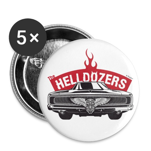 The Helldozers Hotrod - Buttons klein 25 mm (5er Pack)
