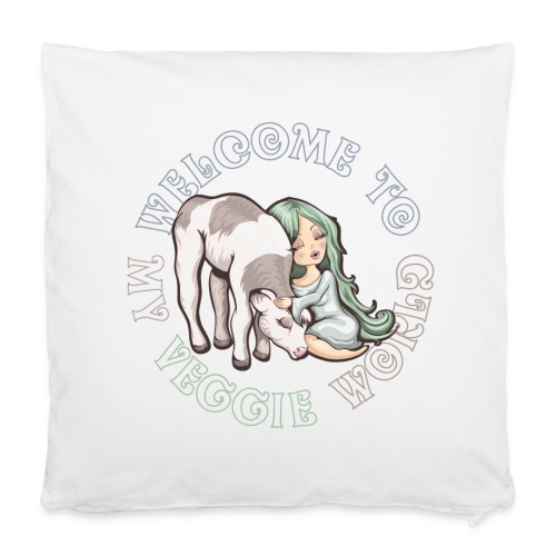 Welcome to my Veggie World - Housse de coussin 40 x 40 cm