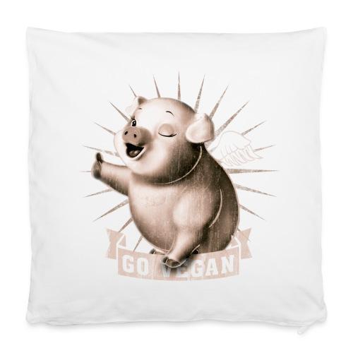 Go Vegan - Housse de coussin 40 x 40 cm