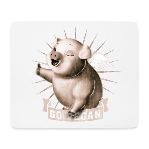 Go Vegan - Tapis de souris (format paysage)