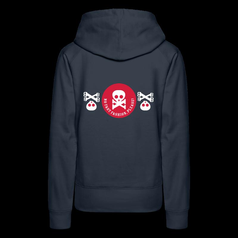 no fast fashion, please!, skulls, frauen kapuzenpullover - Frauen Premium Hoodie