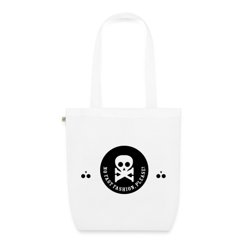bio-stoffbeutel, no fast fashion, please! skulls - Bio-Stoffbeutel