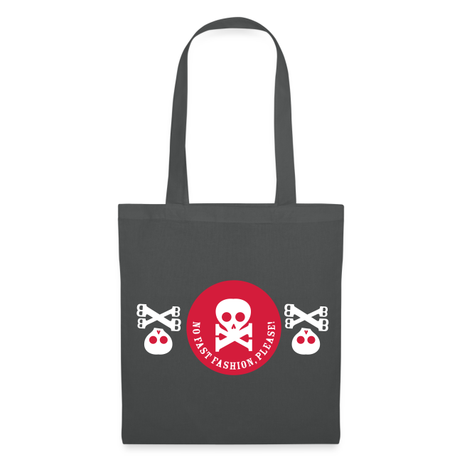 stoffbeutel, no fast fashion, please! skulls