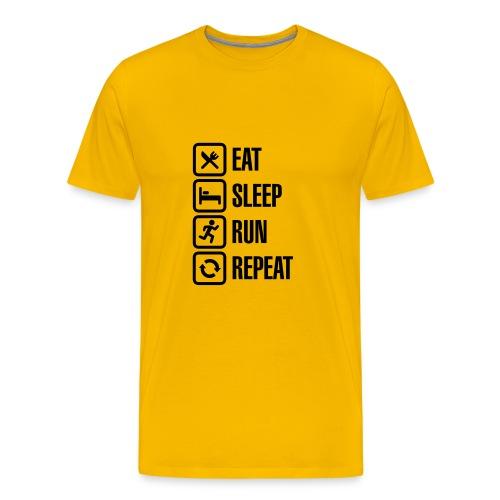 eat sleep run repeat - Mannen Premium T-shirt