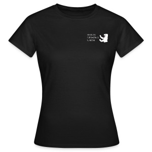 T - white logo - Frauen T-Shirt
