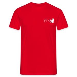 T - white logo - Männer T-Shirt
