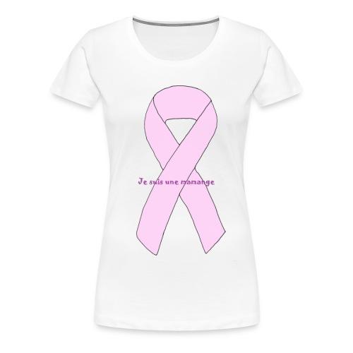 TSHIRT BLANC FEMME MAMANGE - T-shirt Premium Femme