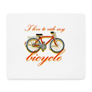 I love to ride my bicycle mousepad - Mouse Pad (horizontal)