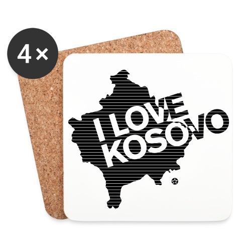 Untersetzer (4er-Set) - Der Doppelkopfadler unser Symbol - unser Kosovo