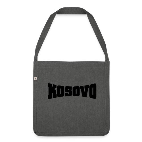 Schultertasche aus Recycling-Material - Der Doppelkopfadler unser Symbol - unser Kosovo