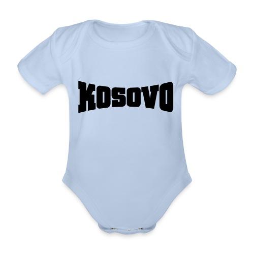 Baby Bio-Kurzarm-Body - Der Doppelkopfadler unser Symbol - unser Kosovo