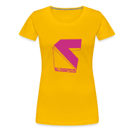 T-Shirts ~ Frauen Premium T-Shirt ~ Subbass Girlie - Shirt mit Logo in Neonpink