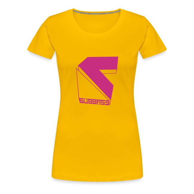 Subbass Girlie - Shirt mit Logo in Neonpink