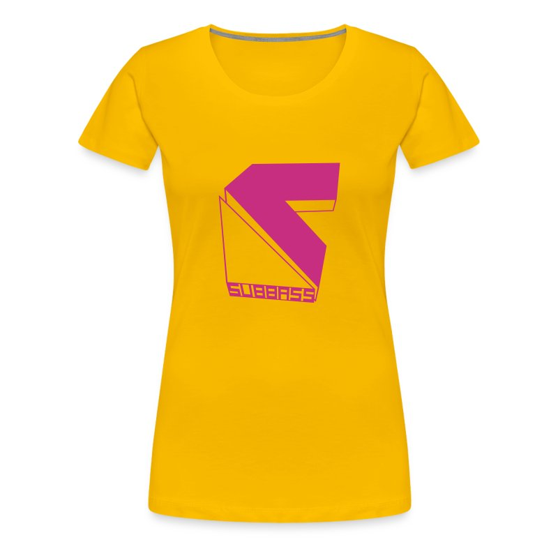Subbass Girlie - Shirt mit Logo in Neonpink  - Frauen Premium T-Shirt