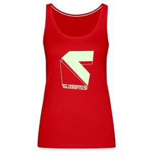 Subbass Girlie Shirt ohne Ärmel Glow in Dark! - Frauen Premium Tank Top